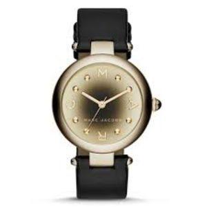 Dotty Three Hand Leather Watch - Black